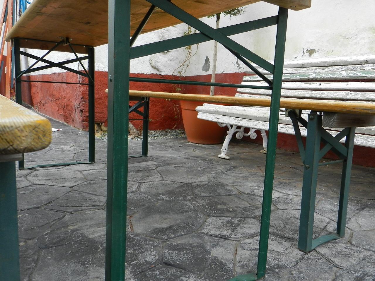 Imagen MESA Y BANCOS PLEGABLES PARA JARDÍN 37024