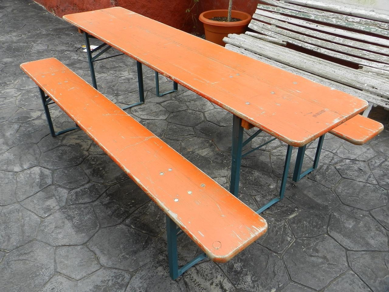 Imagen MESA Y BANCOS PLEGABLES PARA JARDÍN 37029