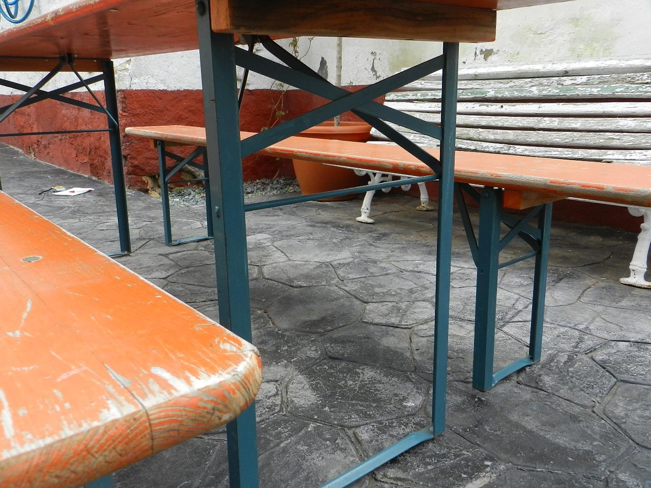 Imagen MESA Y BANCOS PLEGABLES PARA JARDÍN 37030