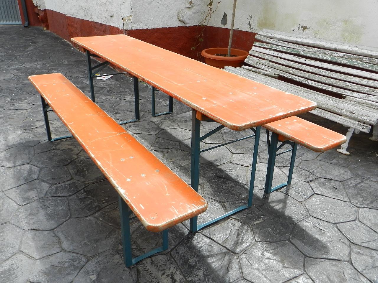 Imagen MESA Y BANCOS PLEGABLES PARA JARDÍN 37033