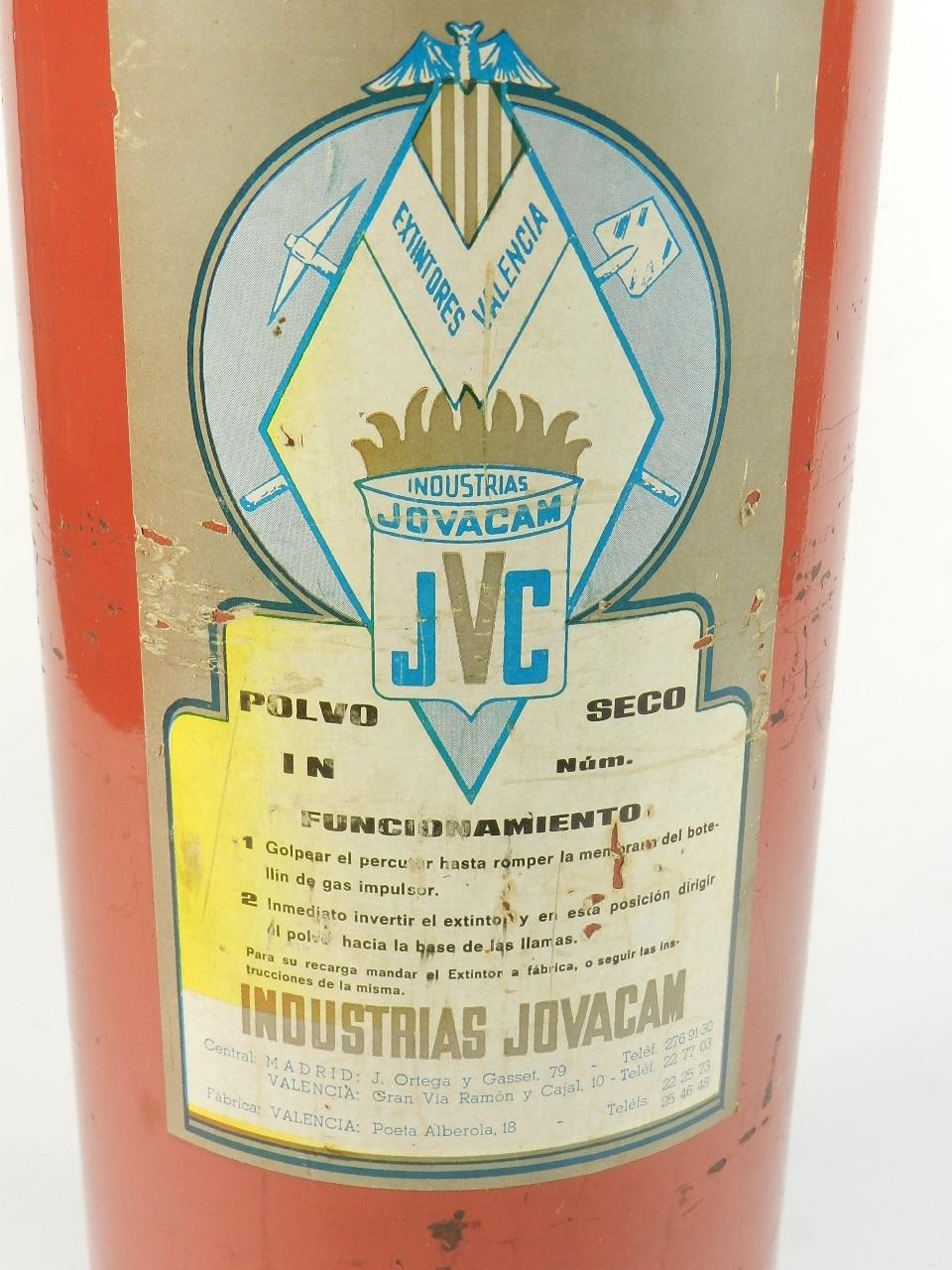 Imagen EXTINTOR JOVACAM AÑO 1974 37286