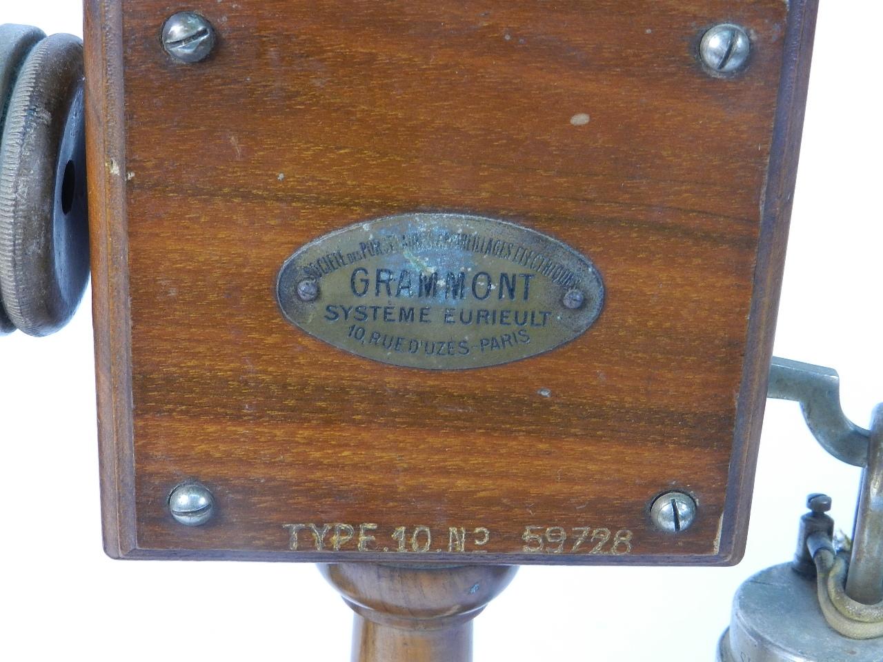 Imagen TELEFONO GRAMMONT TYPE Nº10 1915 38740