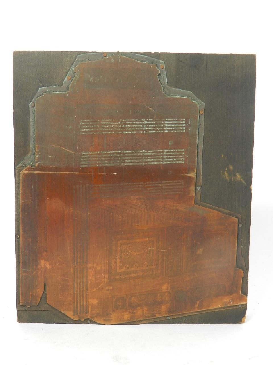 Imagen PLANCHA IMPRENTA REGISTRADORA AÑO 1920 38793