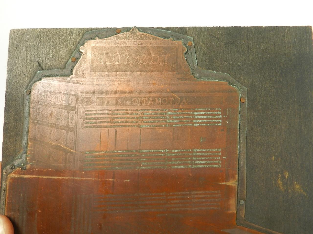 Imagen PLANCHA IMPRENTA REGISTRADORA AÑO 1920 38795