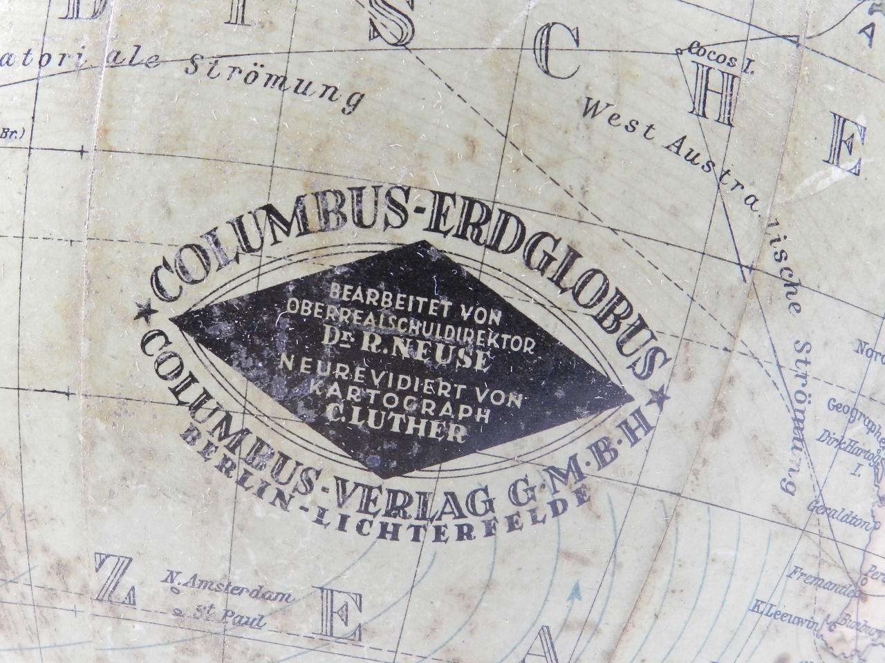 Imagen GLOBO TERRÁQUEO COLUMBUS AÑO 1910 41007
