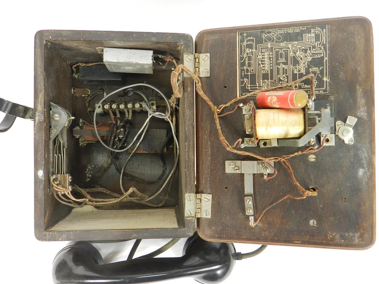 Imagen TELEFONO DE PARED AÑO 1930 41357