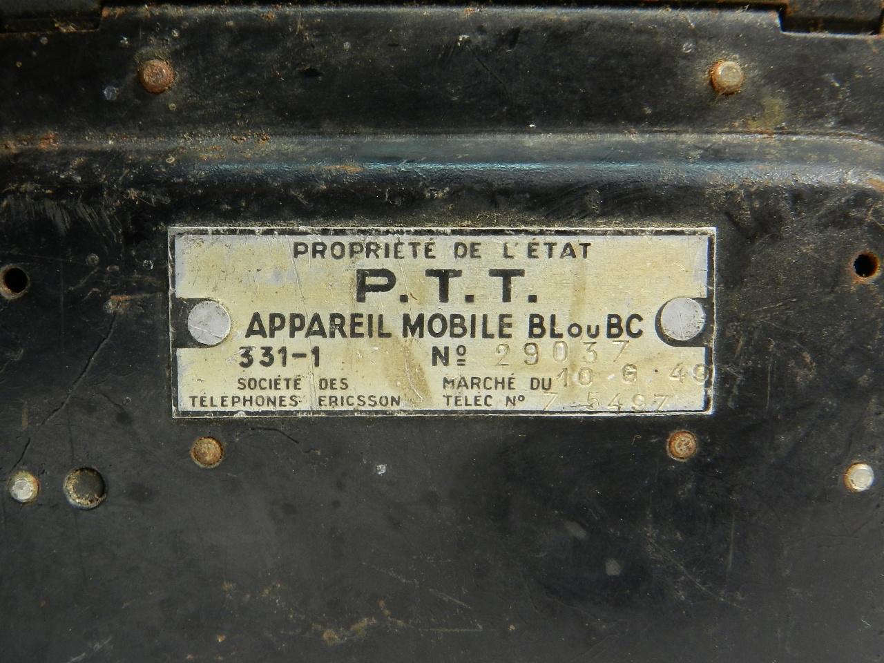 Imagen TELEFONO P.T.T ERICSSON AÑO 1940 41440