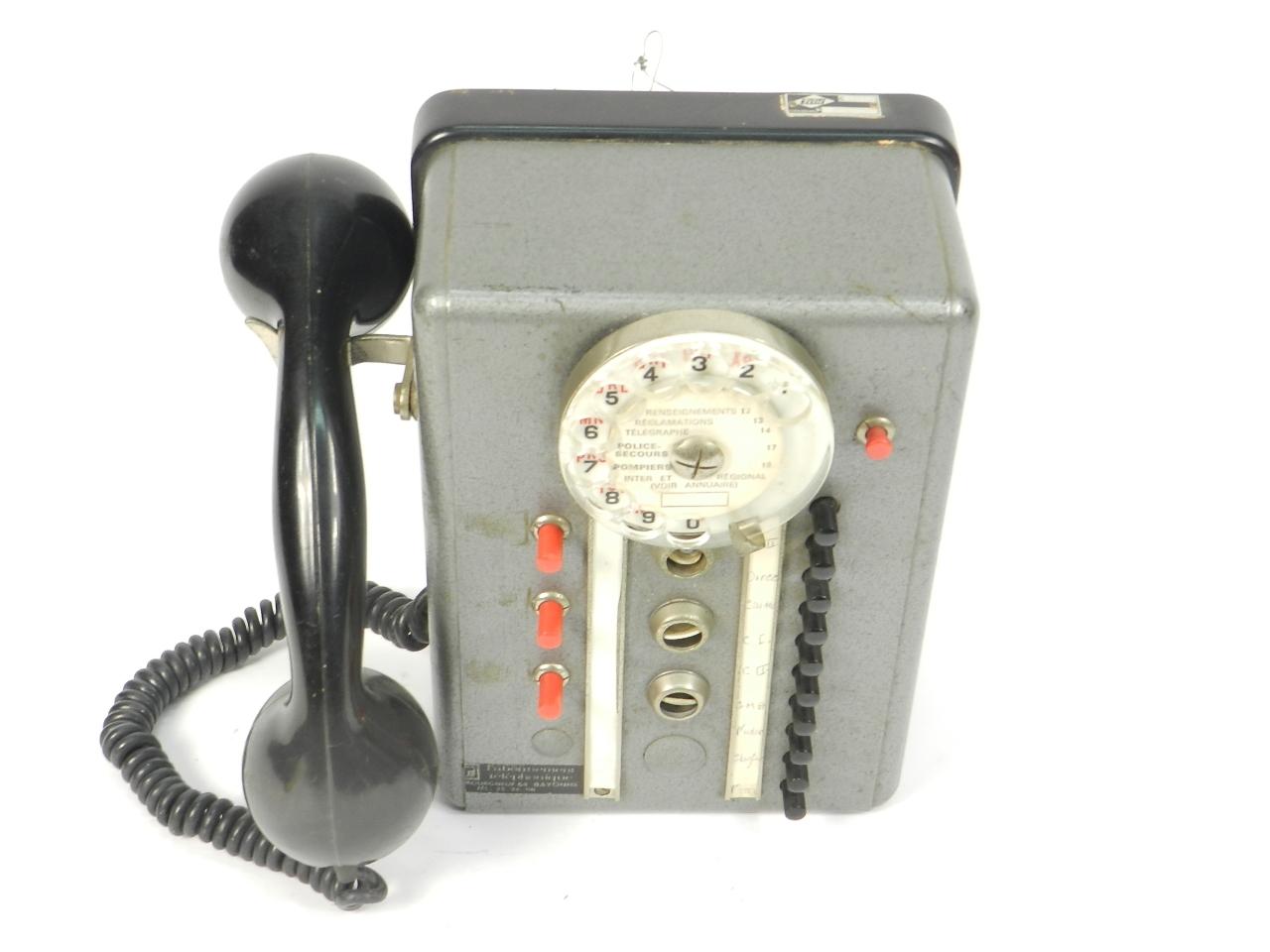Imagen TELEFONO TÉLIC AÑO 1950, ESTRASBURGO 41679