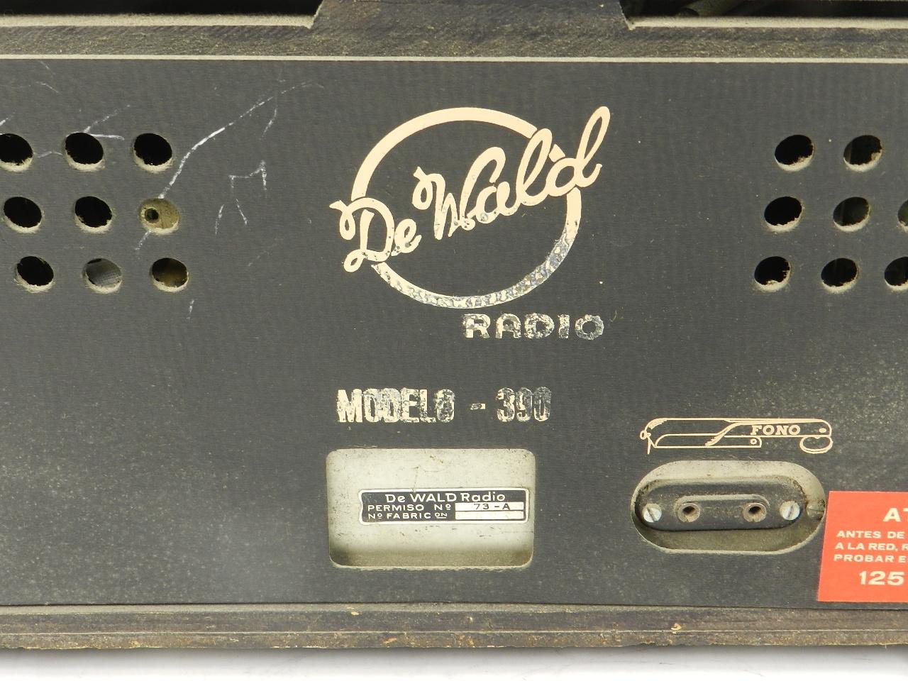 Imagen RADIO De WALD Mod.390  AÑO1960 41883