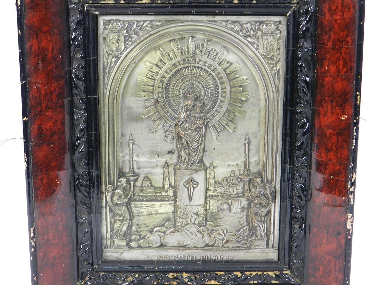 Imagen RELIEVE PLATEADO VIRGEN DEL PILAR s.XIX 41887