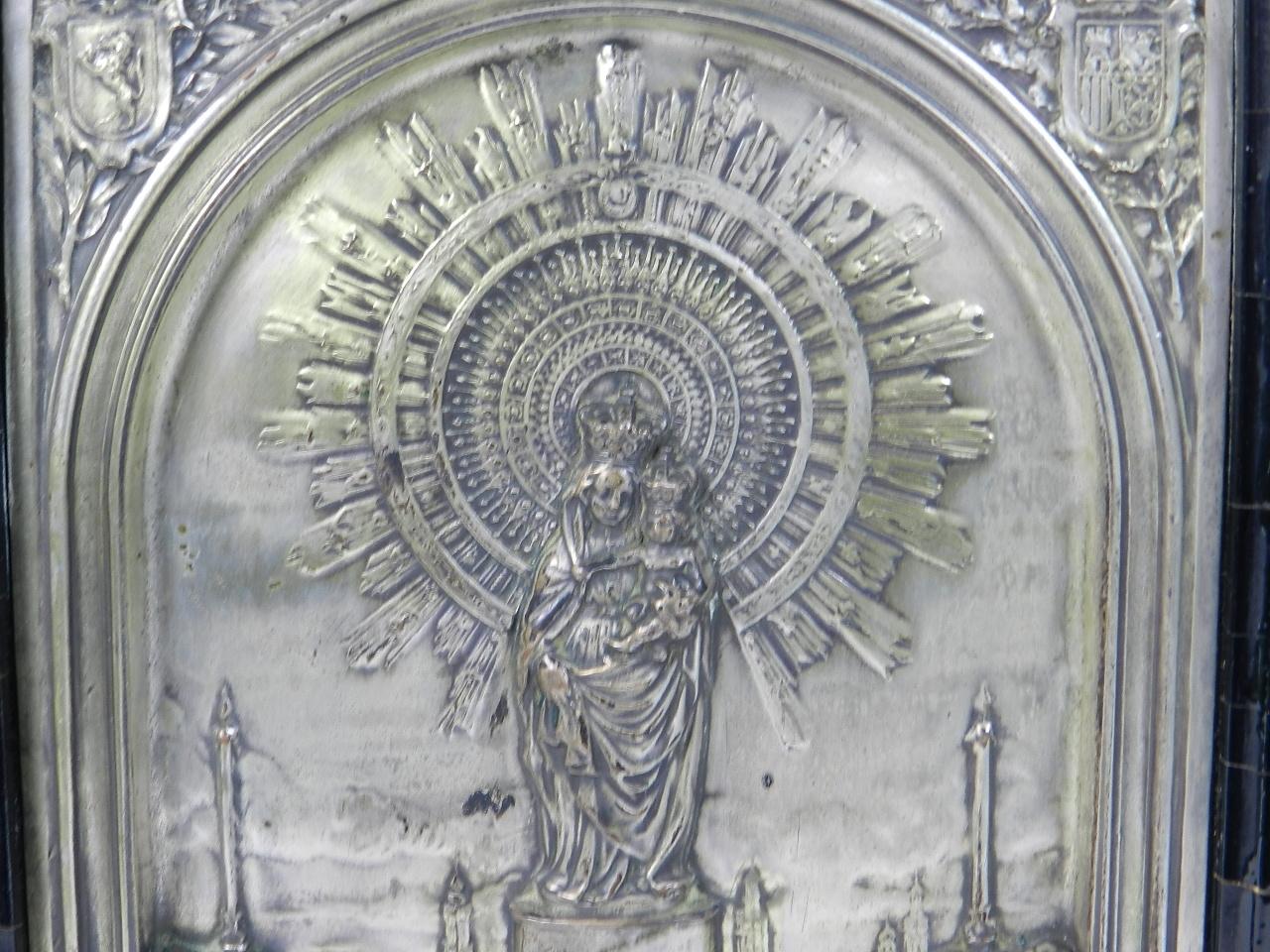 Imagen RELIEVE PLATEADO VIRGEN DEL PILAR s.XIX 41888
