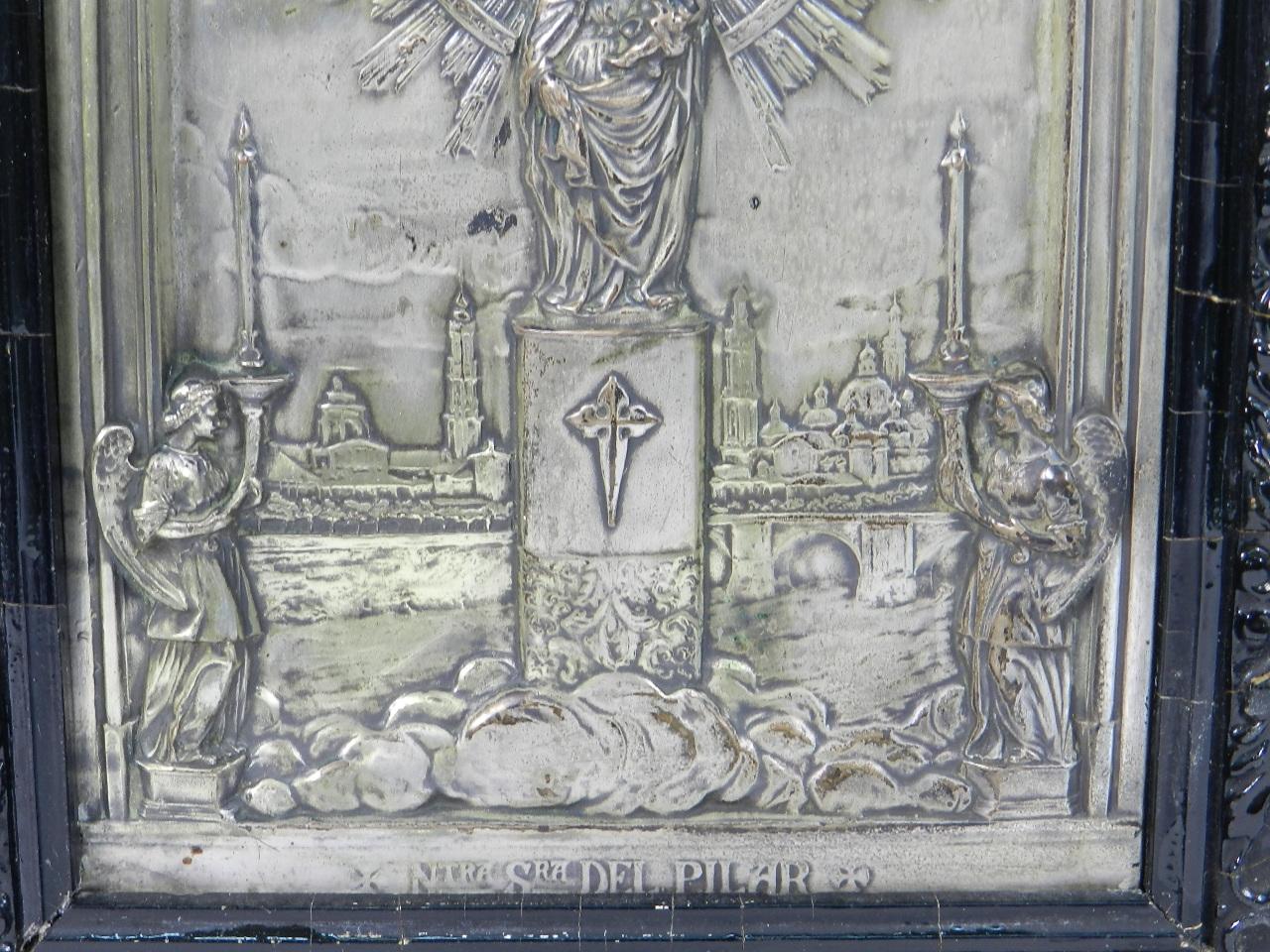 Imagen RELIEVE PLATEADO VIRGEN DEL PILAR s.XIX 41889