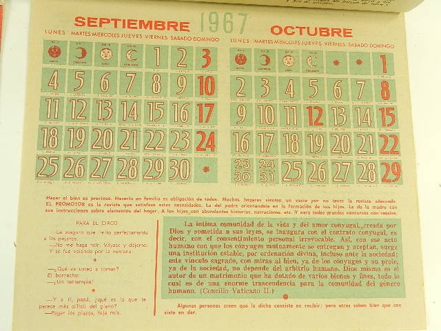 Imagen CALENDARIOS 1965 12517
