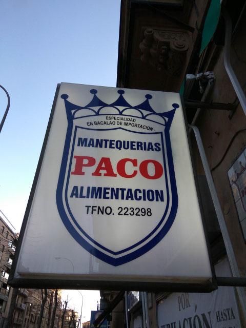 MANTEQUERIAS PACO SALAMANCA
