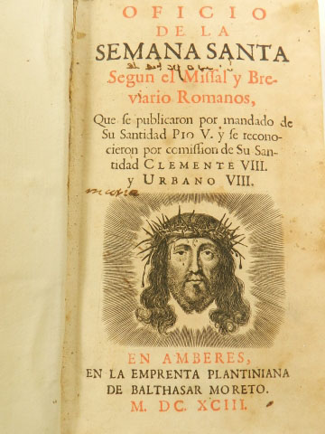 Imagen OFICIO DE LA SEMANA SANTA AÑO 1693 22857