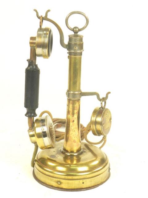 TELÉFONO DE LATÓN, AÑO 1930