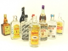 10 BOTELLAS DE BRANDY Y GINEBRA 1960