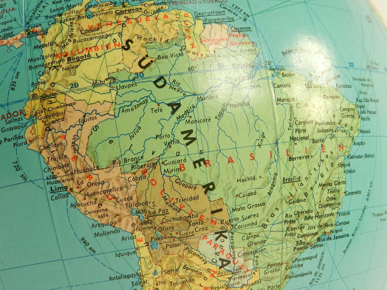 Imagen GLOBO TERRÁQUEO AÑO 1960 CON LUZ 23395