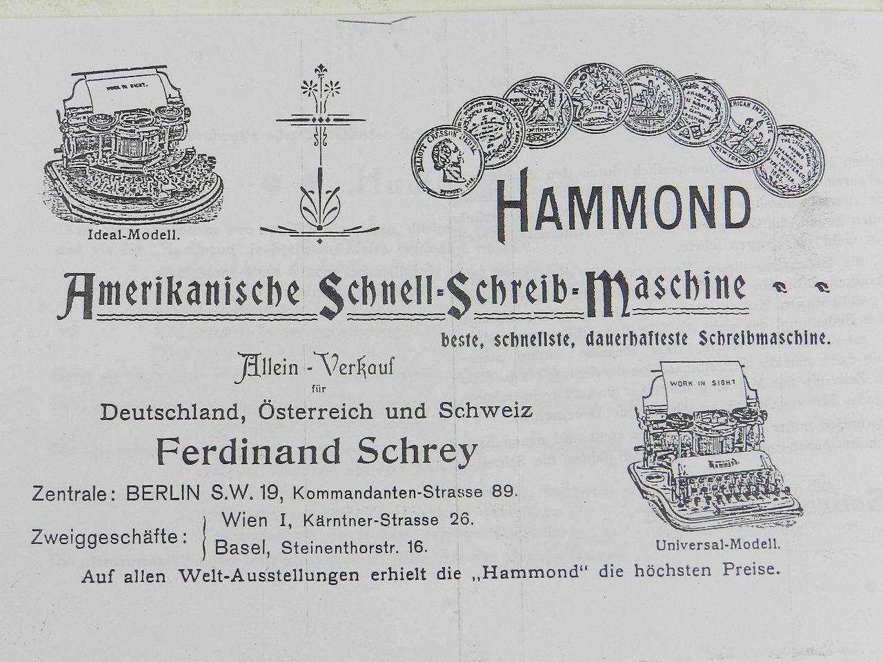 Imagen HAMMOND MULTIPLEX AÑO 1913 23581