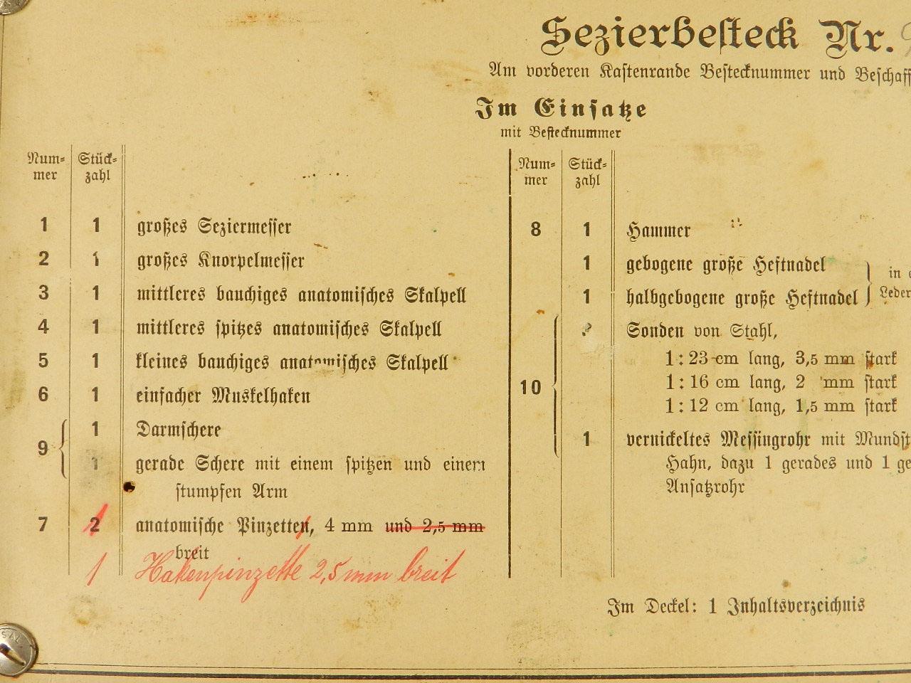 Imagen ESTUCHE INSTRUMENTAL QUIRÚRGICO AÑO 1910 23851