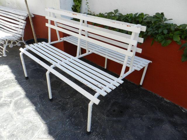 BANCO DOBLE REALIZADO EN HIERRO