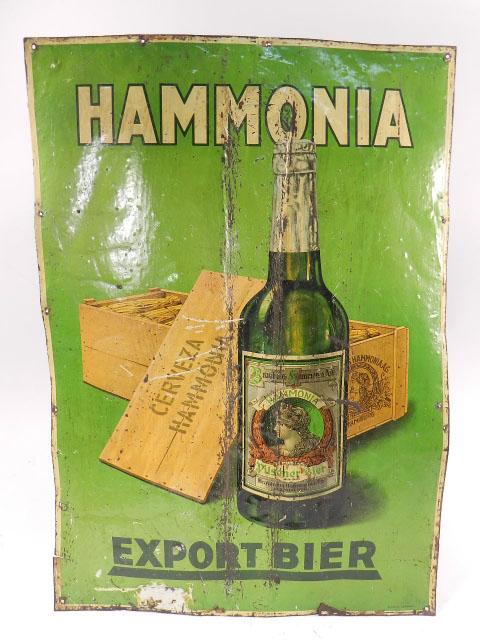 CARTEL DE 1920 CERVEZA HAMMONIA