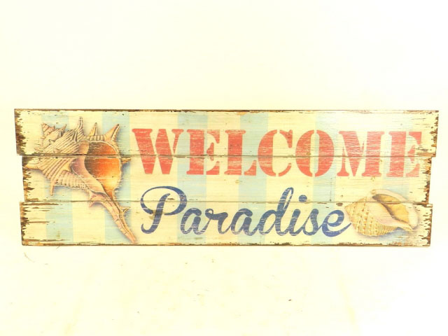 TABLA DECORATIVA WELCOME TO PARADISE