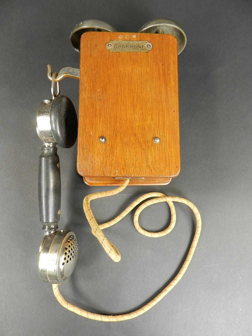 Imagen TELÉFONO GRAMMONT DE DOS CAMPANAS AÑO 1920 24581