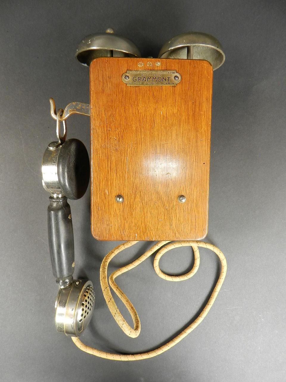 Imagen TELÉFONO GRAMMONT DE DOS CAMPANAS AÑO 1920 24582