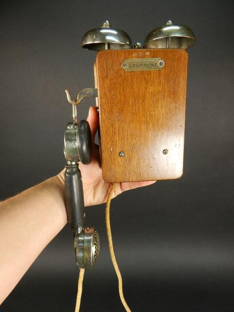 TELÉFONO GRAMMONT DE DOS CAMPANAS AÑO 1920