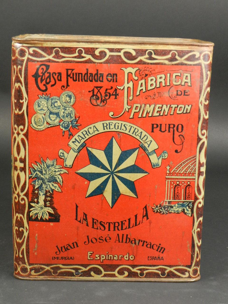 Imagen LATA DE PIMENTON LA ESTRELLA, MURCIA AÑO 1920 24655