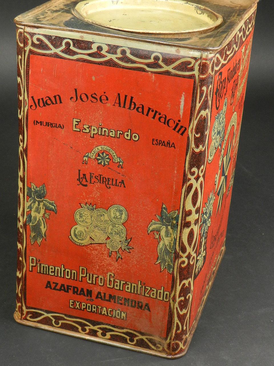 Imagen LATA DE PIMENTON LA ESTRELLA, MURCIA AÑO 1920 24658
