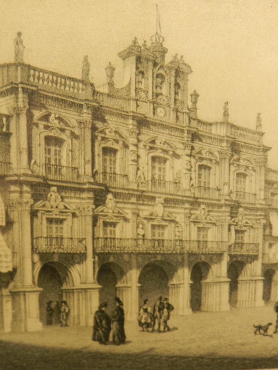 Imagen LITOGRAFÍA P. MAYOR SALAMANCA AÑO 1860 24852