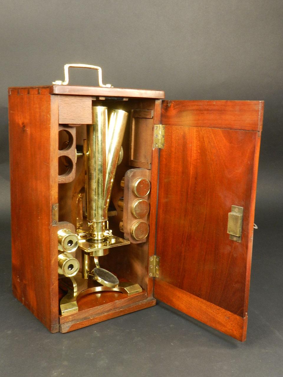 Imagen MICROSCOPIO BINOCULAR H.W. CROUCH AÑO 1862 24891