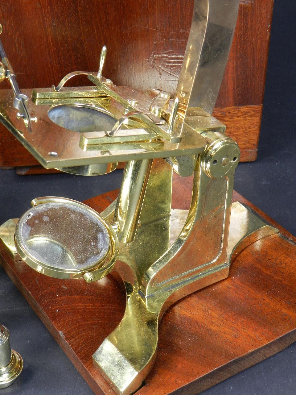 Imagen MICROSCOPIO BINOCULAR H.W. CROUCH AÑO 1862 24905