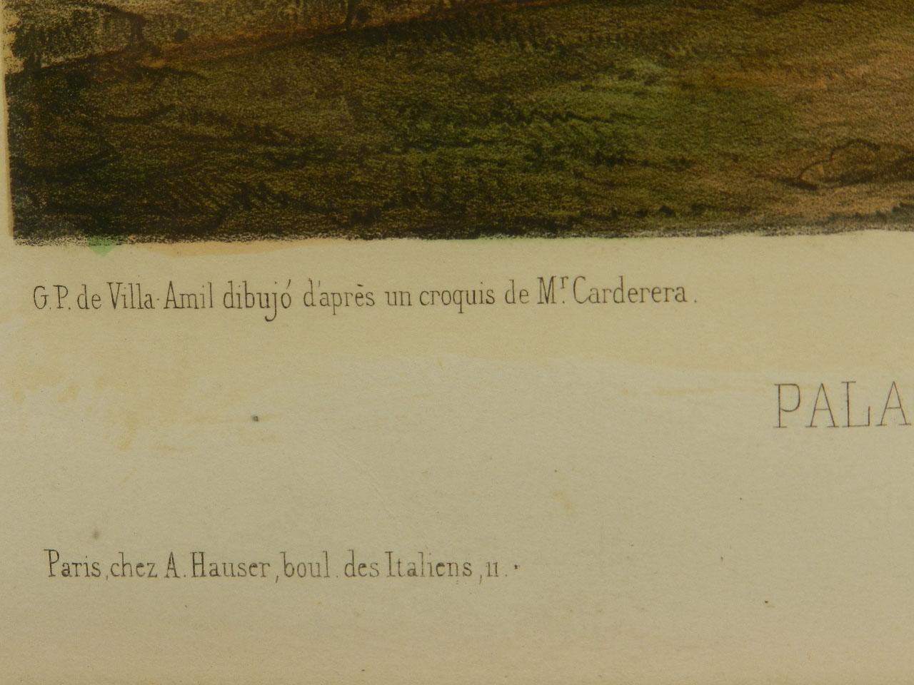 Imagen LITOGRAFÍA PALACIO MONTERREY 1842 24965