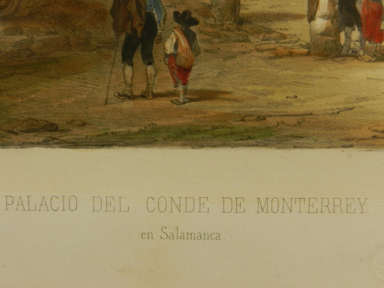 Imagen LITOGRAFÍA PALACIO MONTERREY 1842 24966