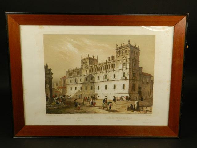 LITOGRAFÍA PALACIO MONTERREY 1842