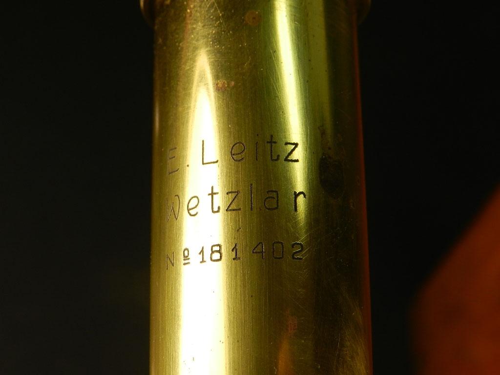Imagen MICROSCOPIO E LEITZ WETZLAR AÑO 1910 25627