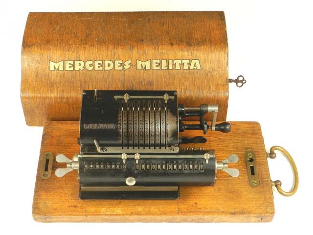 RARA CALCULADORA MERCEDES-MELITTA AÑO 1924