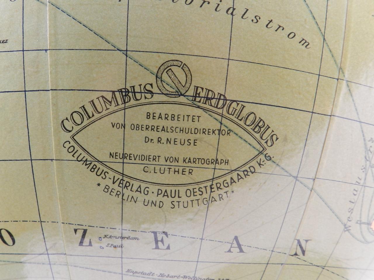 Imagen GLOBO TERRÁQUEO COLUMBUS AÑO 1940 27002