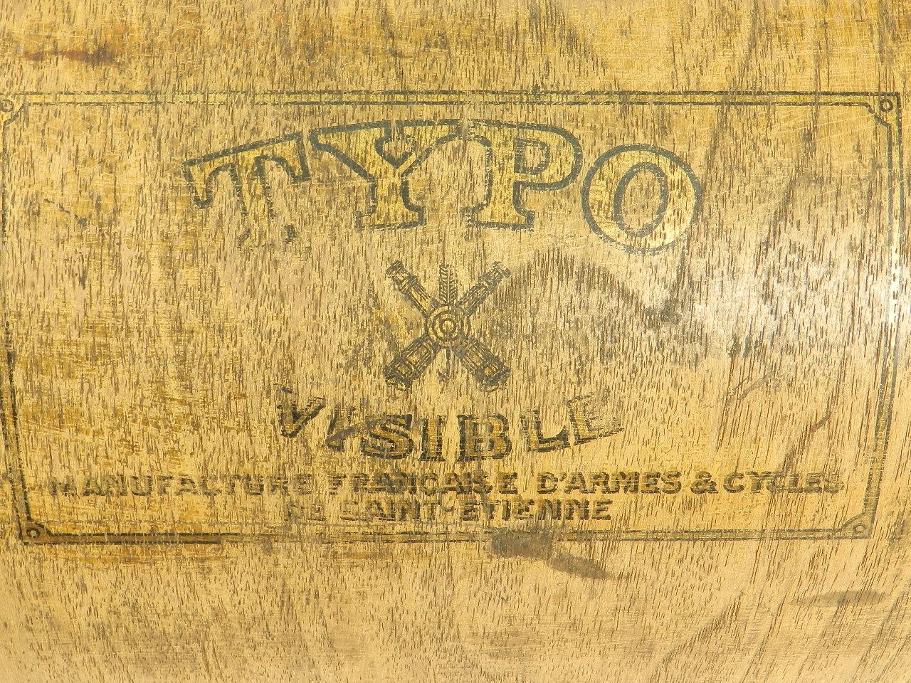 Imagen TYPO  AÑO 1915 + Caja de madera 27698