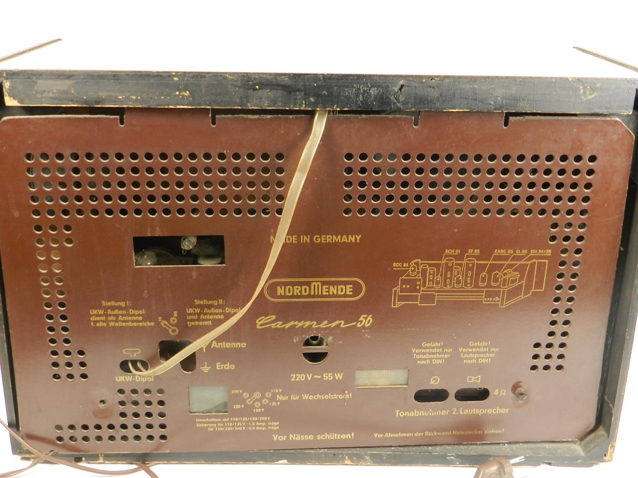 Imagen RADIO NORDMENDE Mod. CARMEN 56  AÑO 1956 27917