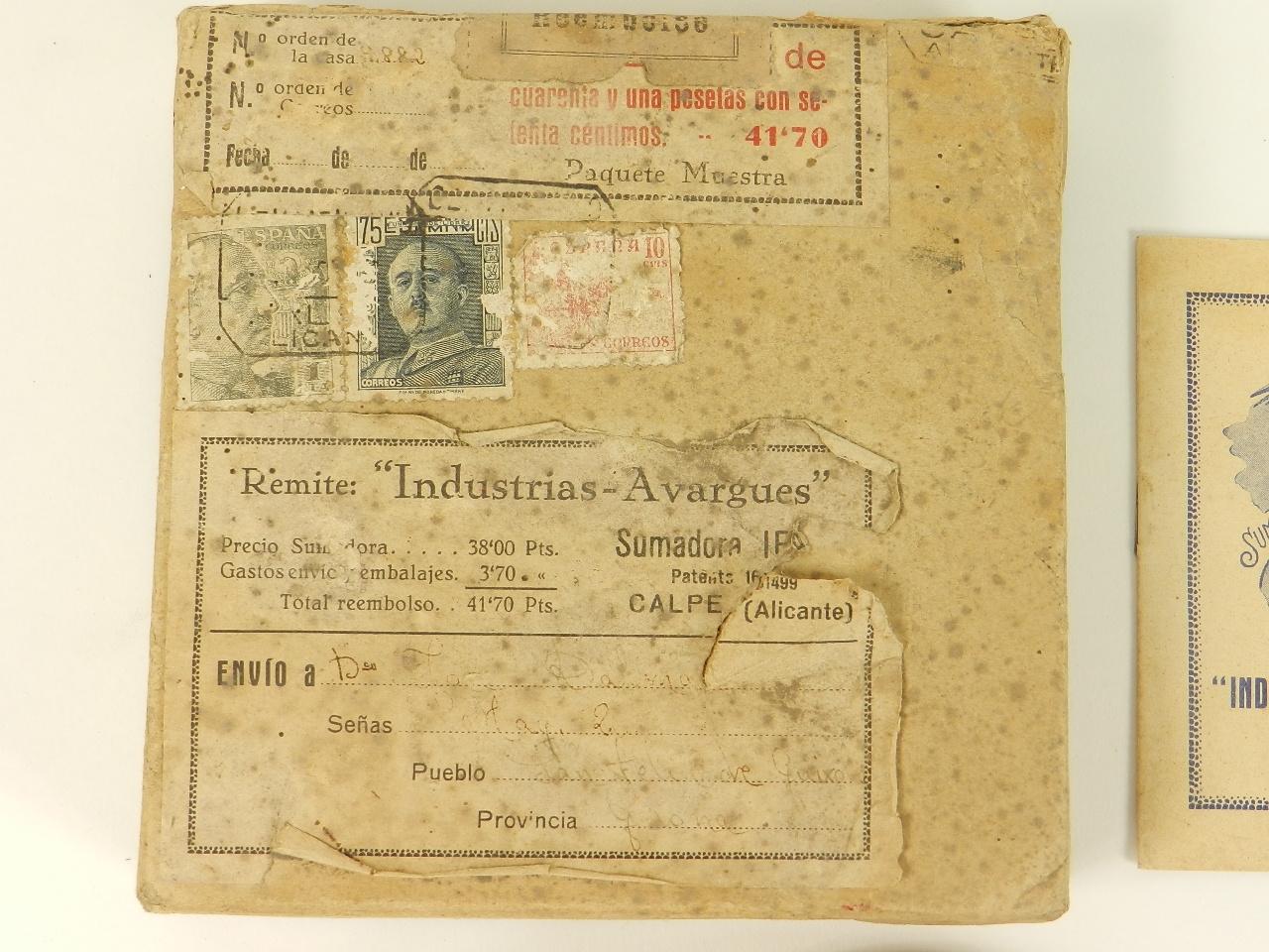 Imagen SUMADORA IFACH  AÑO 1943 27919
