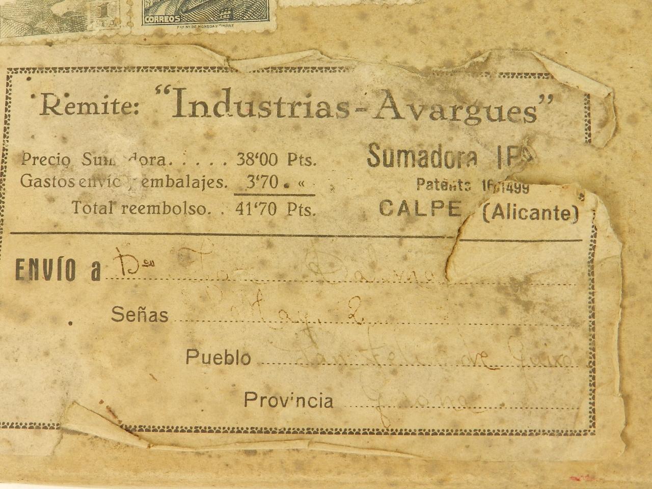 Imagen SUMADORA IFACH  AÑO 1943 27921