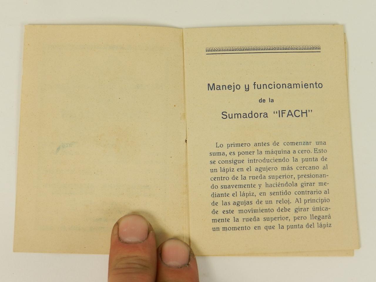 Imagen SUMADORA IFACH  AÑO 1943 27923