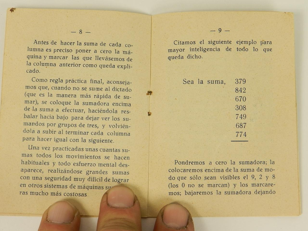 Imagen SUMADORA IFACH  AÑO 1943 27924