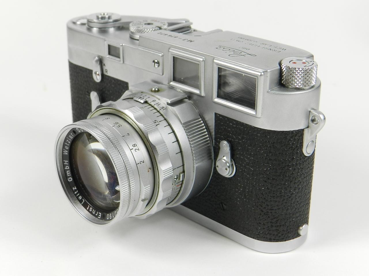 Imagen LEICA M3 AÑO 1957 + 4 OBJETIVOS + EXTRAS 28531