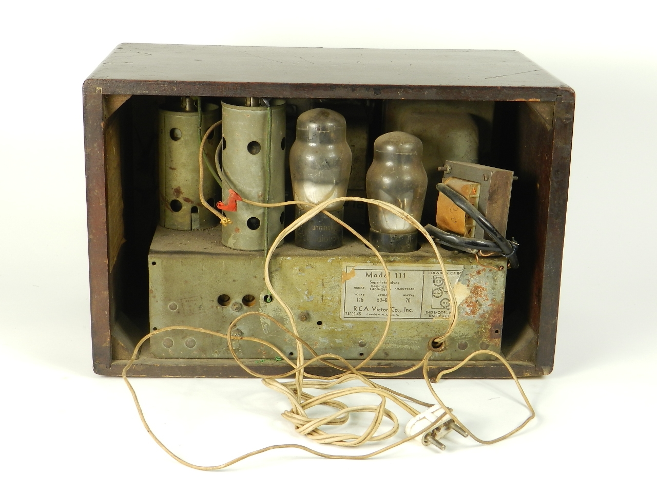 Imagen RADIO RCA VICTOR MODELO 111 29073