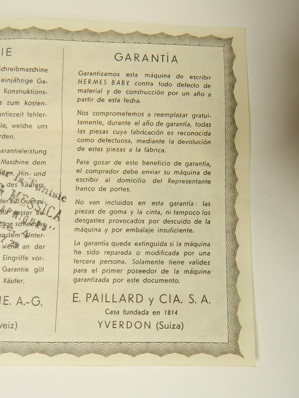 Imagen HERMES BABY AÑO 1942 29750